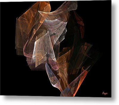 Metal Print featuring the digital art Unfolding by John Pangia