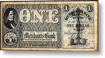 Union Banknote, 1862 Metal Print by Granger