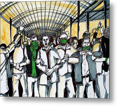 Union Metal Print by Nina Mirhabibi