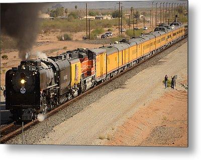 Union Pacific Grand Canyon State Steam Special Train Picacho Arizona November 15 2011 Metal Print by Brian Lockett