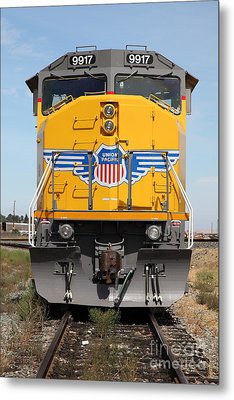 Union Pacific Locomotive Train - 5d18636 Metal Print by Wingsdomain Art and Photography