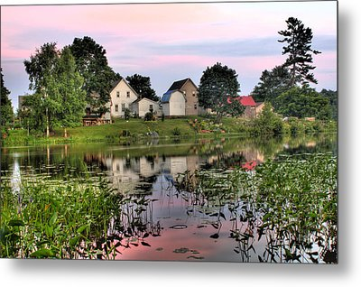 Union River Sunset  Metal Print by Greg DeBeck