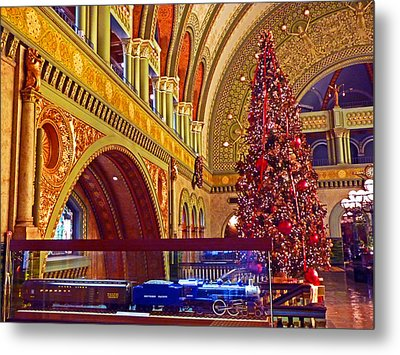 Metal Print featuring the photograph Union Station Christmas by William Fields