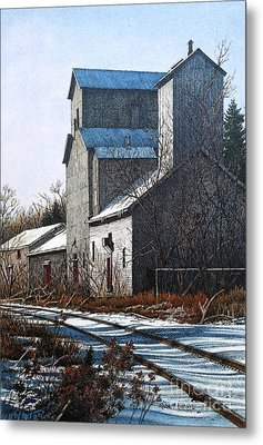 Unionville Railyard Metal Print