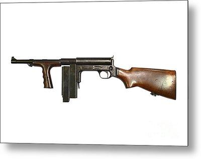 United Defense M42 Submachine Gun Metal Print by Andrew Chittock
