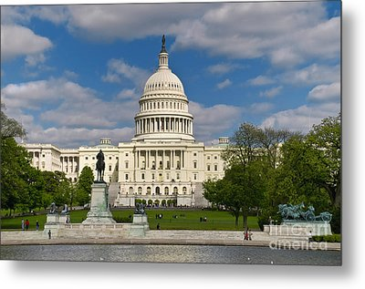 Metal Print featuring the photograph United States Capitol by Jim Moore