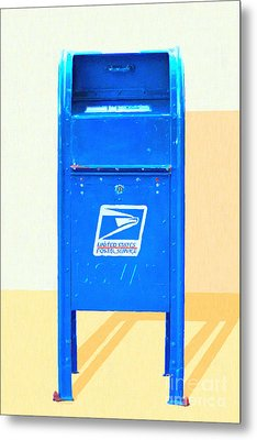 United States Postal Service Mail Box . Snail Mail Metal Print by Wingsdomain Art and Photography