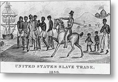 United States Slave Trade Metal Print by Photo Researchers