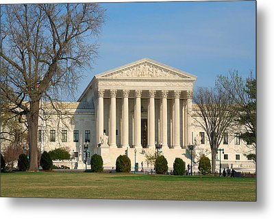 Metal Print featuring the photograph United States Supreme Court by Steven Richman
