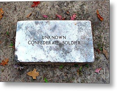 Unknown Confederate Soldier Metal Print by Renee Trenholm