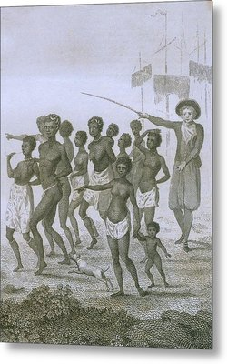 Unloading Of Enslaved Africans In Dutch Metal Print by Everett