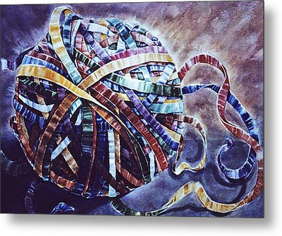 Unraveling Life  Metal Print by Catherine Foster