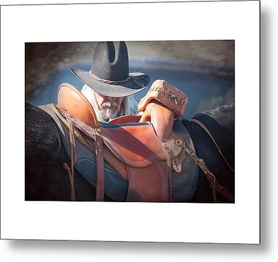 Untacking At The End Of The Day Metal Print