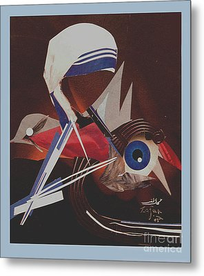 Untitled Paper Collage Metal Print by Mohammad Zafar Nadaf