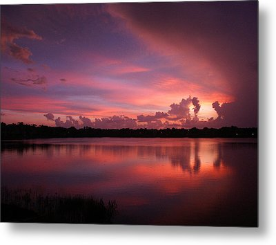 Untitled Sunset-1 Metal Print by Bill Lucas