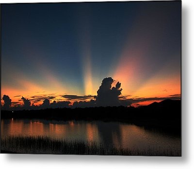 Untitled Sunset-14 Metal Print by Bill Lucas