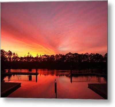 Metal Print featuring the photograph Untitled Sunset-3 by Bill Lucas