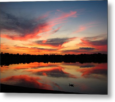 Metal Print featuring the photograph Untitled Sunset-4 by Bill Lucas
