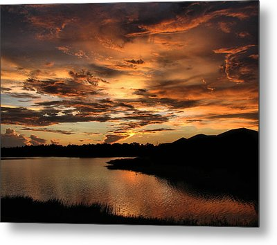 Untitled Sunset-7 Metal Print by Bill Lucas