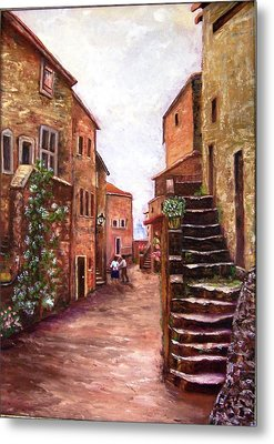Up The Alley Metal Print by Renate Voigt