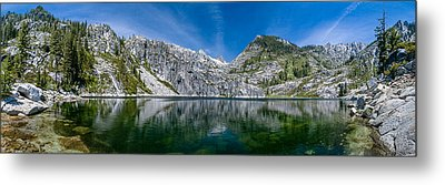 Upper Canyon Creek Lake Panorama Metal Print by Greg Nyquist