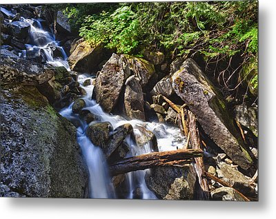Upper Cascades Of Malchite Creek Metal Print