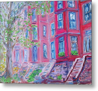 Upper West Side Brownstones Metal Print