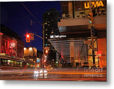 Urban Nightlife Metal Print by Charline Xia