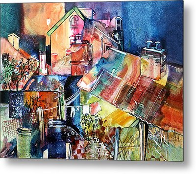 Metal Print featuring the painting Urban Sprawl 1 by Rae Andrews
