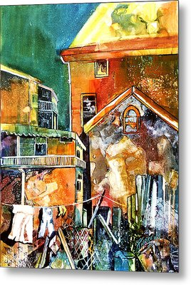 Metal Print featuring the painting Urban Sprawl 2 by Rae Andrews