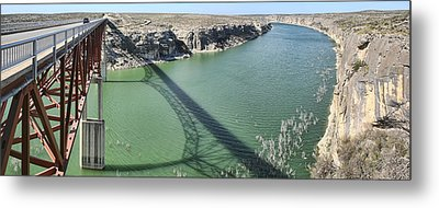 Us 90 Bridge Over Pecos River Metal Print