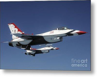 U.s. Air Force F-16 Thunderbirds Metal Print by Stocktrek Images
