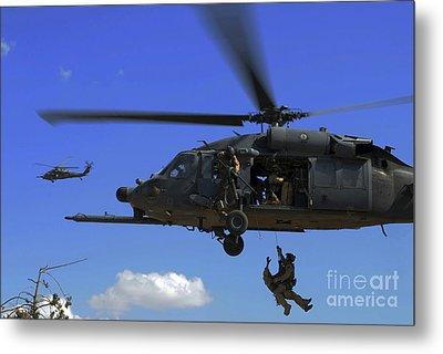 U.s. Air Force Pararescuemen Metal Print by Stocktrek Images