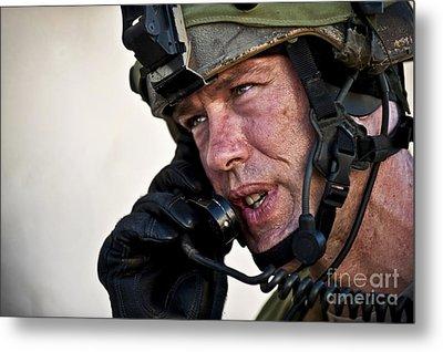 U.s. Air Force Sergeant Calls Metal Print by Stocktrek Images