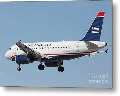 Us Airways Jet Airplane  - 5d18396 Metal Print by Wingsdomain Art and Photography