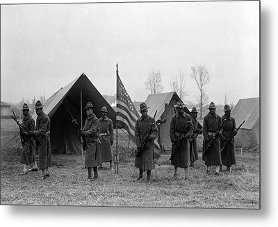 U.s. Army, African American Soldiers Metal Print by Everett