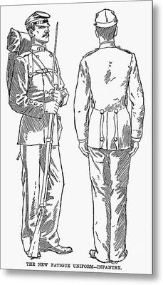 U.s. Army: Fatigues, 1882 Metal Print