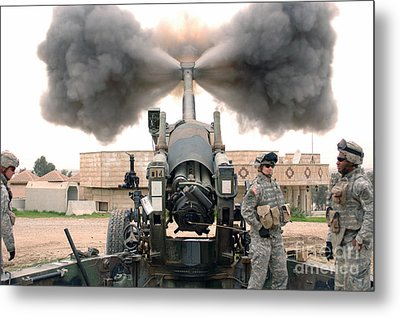 U.s. Army Soldiers Conduct Metal Print by Stocktrek Images