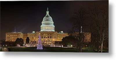 Metal Print featuring the photograph U.s. Capitol Christmas Tree 2009 by Metro DC Photography