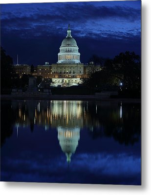 Us Capitol - Pre-dawn Getting Ready Metal Print