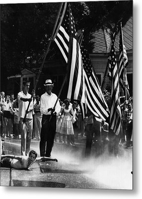 Us Civil Rights. Demonstrators Metal Print by Everett