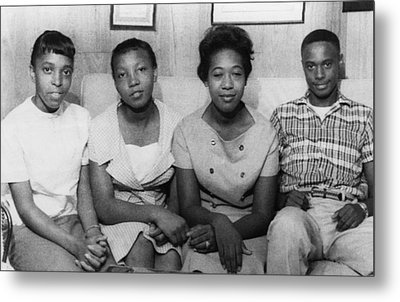 Us Civil Rights. From Left High School Metal Print by Everett