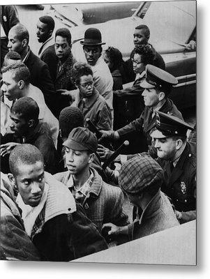 Us Civil Rights. Police Dispersing Metal Print by Everett