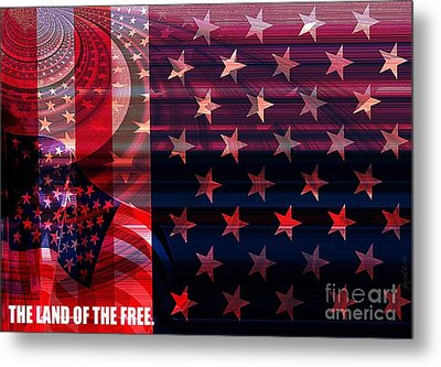 U.s Is On The Continent Metal Print by Fania Simon