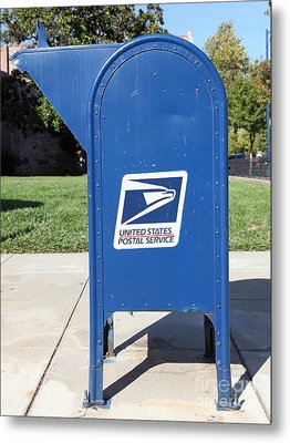 Us Mail Box . 5d18813 Metal Print by Wingsdomain Art and Photography