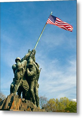 U.s Marine Corps Memorial Metal Print by Dan Wells