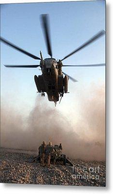 U.s. Marines Preparing To Attach An Metal Print by Stocktrek Images