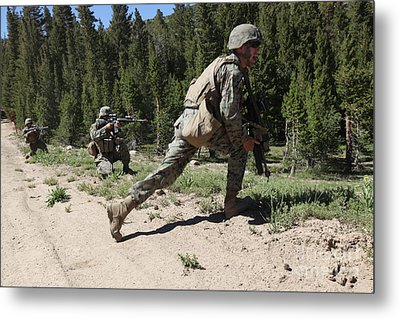 U.s. Marines Training At The Mountain Metal Print by Stocktrek Images
