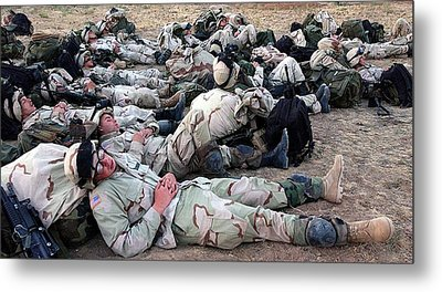 U.s. Soldiers Of The 10th Mountain Metal Print