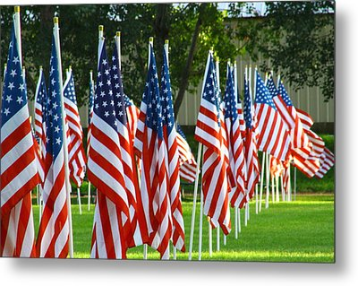 Usa Flags 26 Metal Print